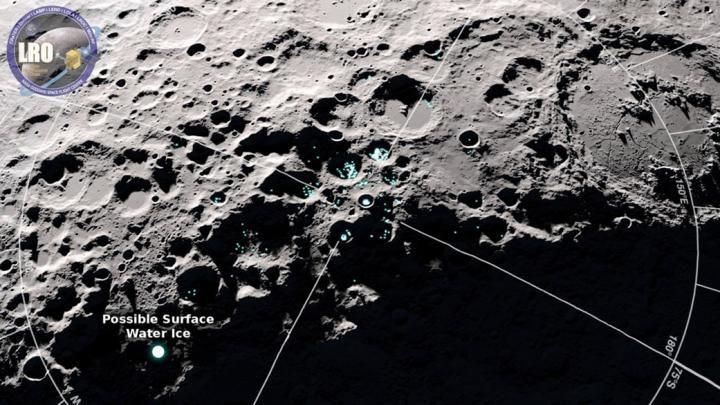 Ученые обнаружили на поверхности Луны «прыгающую» воду