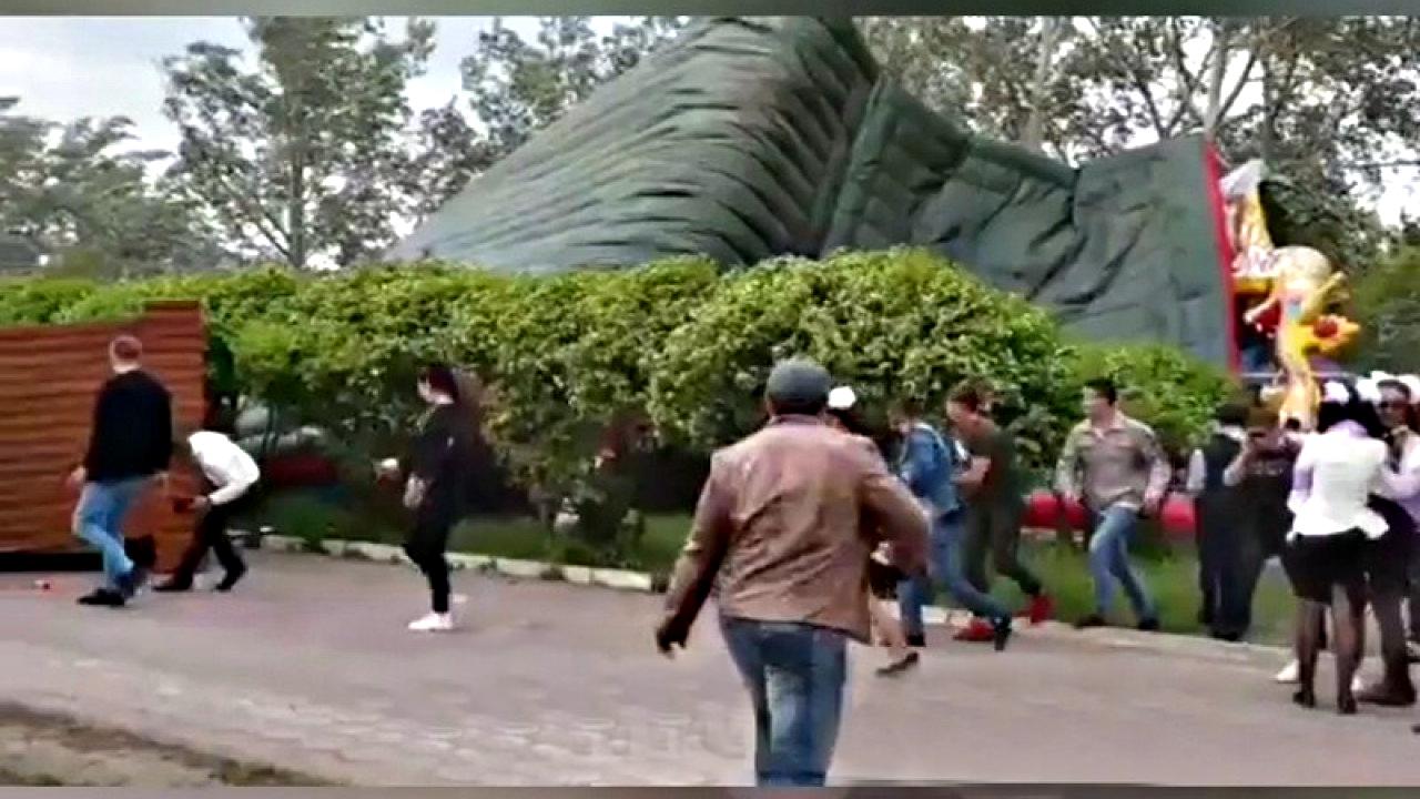 В Центральном парке Караганды перевернулся батут — погиб один ребёнок